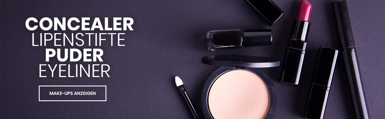 Make-Up - Concealer, Lippenstifte, Puder und Eyeliner